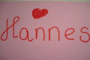 Handtekening Hannes